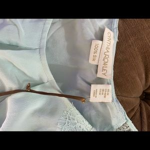 Cynthia Rowley Tops - Size M, 100% silk light blue sleeveless top.